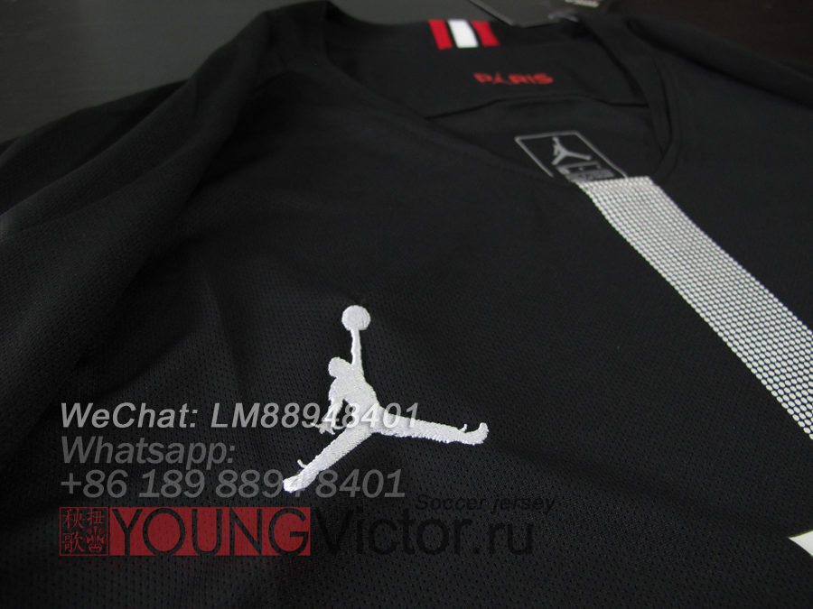 hot sale online ed0c2 5a710 18/19 Paris Saint Germain Jordan PSG black UCL Soccer jersey ...