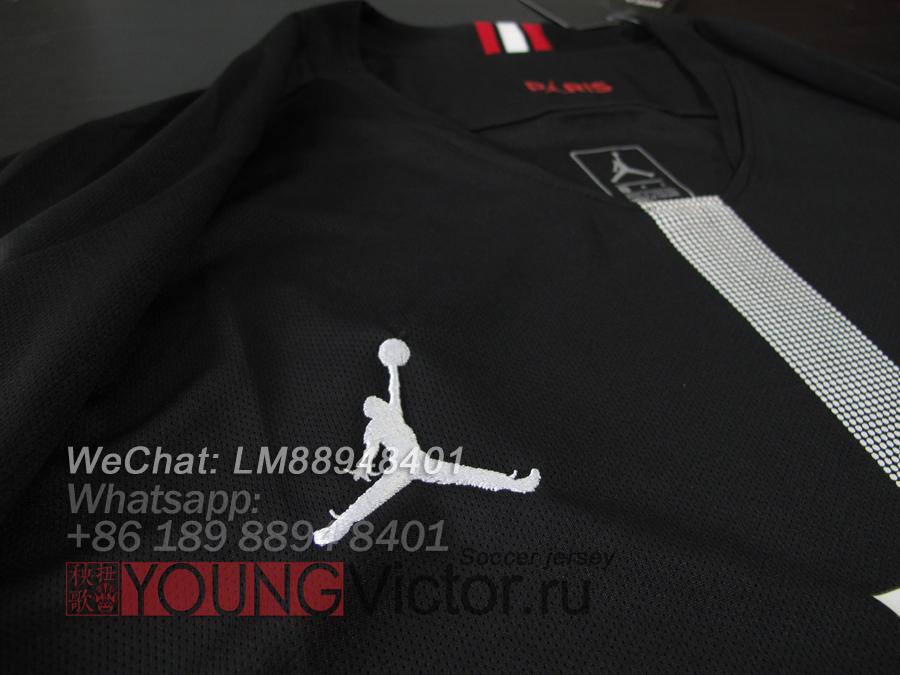 hot sale online 19415 ab97b 18/19 Paris Saint Germain Jordan PSG black UCL Soccer jersey ...
