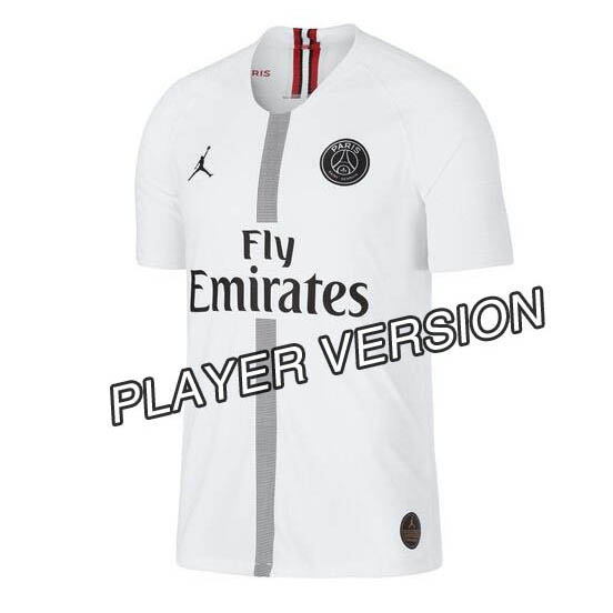 sports shoes f1baf d8145 18/19 Paris Saint Germain Jordan PSG white Player version ...